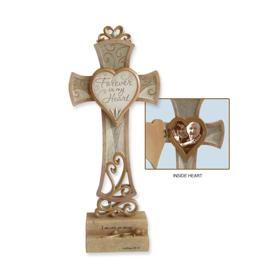 Forever in my Heart Memorial Cross