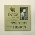 """Dogs Come into Our Lives...""  Pet Photo Frame"