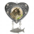 """In Loving Remembrance"" Pewter Cat Photo Ornament"