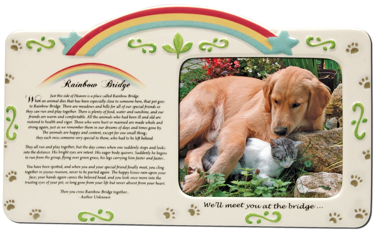 pet photo frame rainbow bridge pet memorial frame