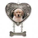 """In Loving Remembrance"" Pewter Dog Photo Ornament"