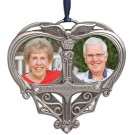 """In Loving Memory"" Double Photo Pewter Ornament"