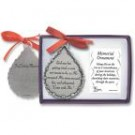 """God Saw Her Getting Tired"" Tear Shaped Ornament"